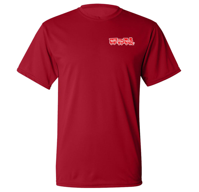 CLOSEOUT: Augusta Dri-Fit Performance Red TFT Chest Seal T-Shirt TFT Shirt Marine Corps Direct S RED