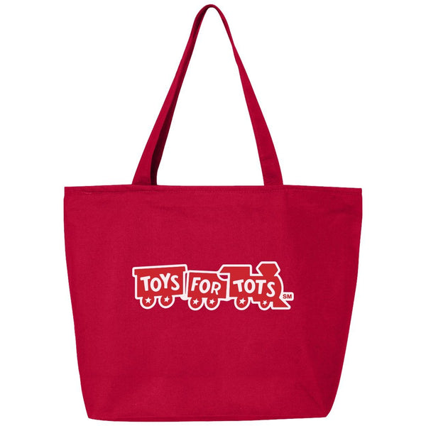 Red 25L Zippered Tote with Red Train TFT MISC marinecorpsdirecttft
