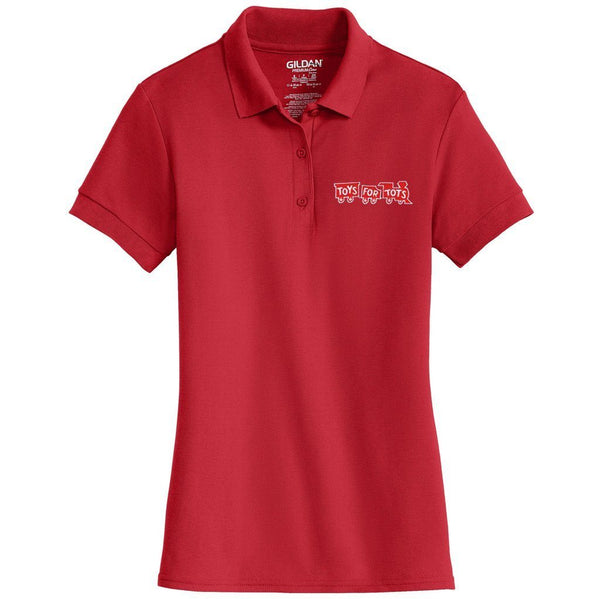 Red TFT Train Embroidered Womens Polo Polo Marine Corps Direct S RED