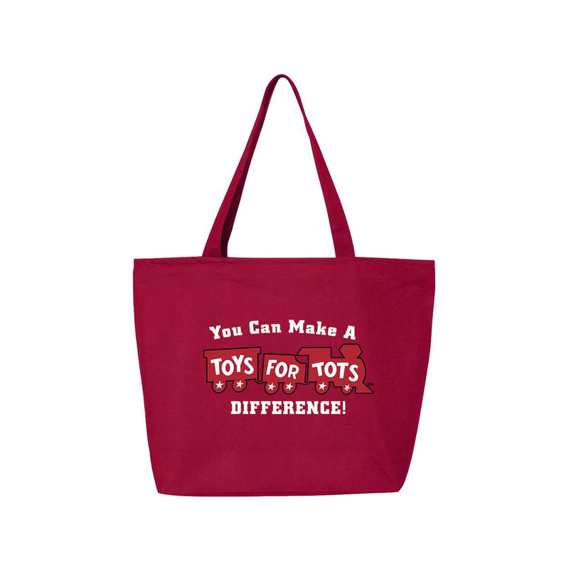 25L Zippered Tote with Red Train TFT MISC marinecorpsdirecttft RED