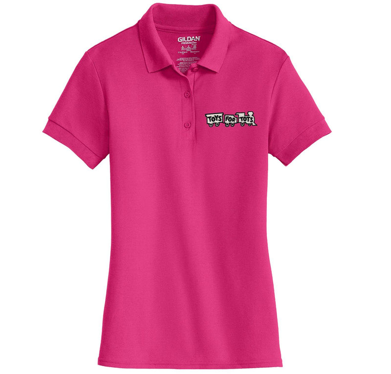 White/Black TFT Train Embroidered Womens Polo Polo Marine Corps Direct S PINK
