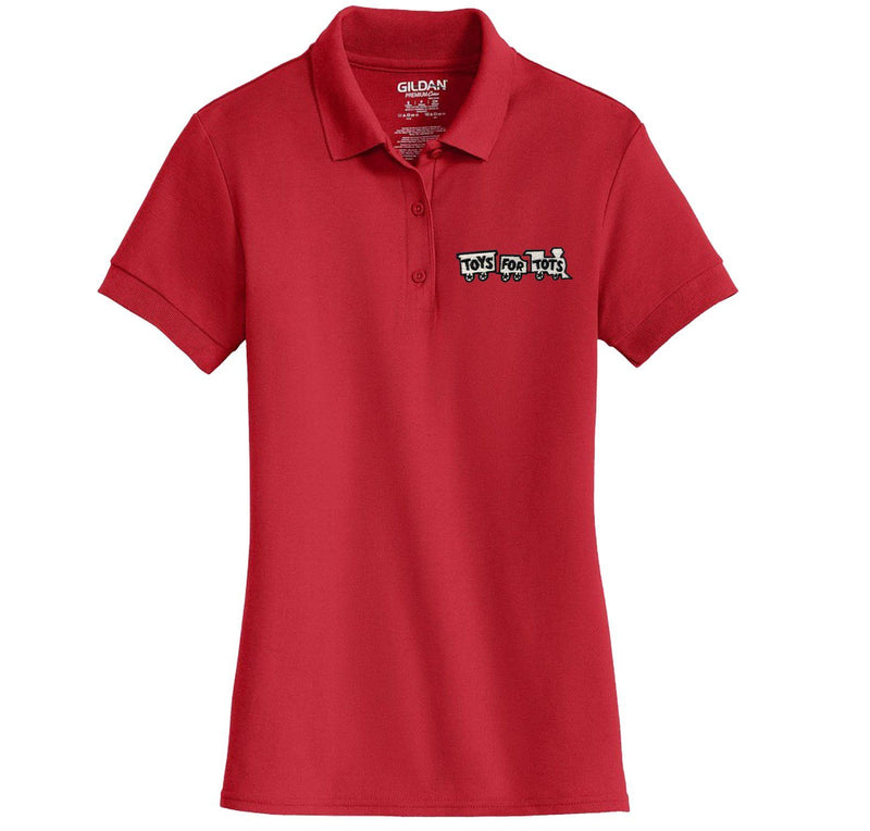White/Black TFT Train Embroidered Womens Polo Polo Marine Corps Direct S RED