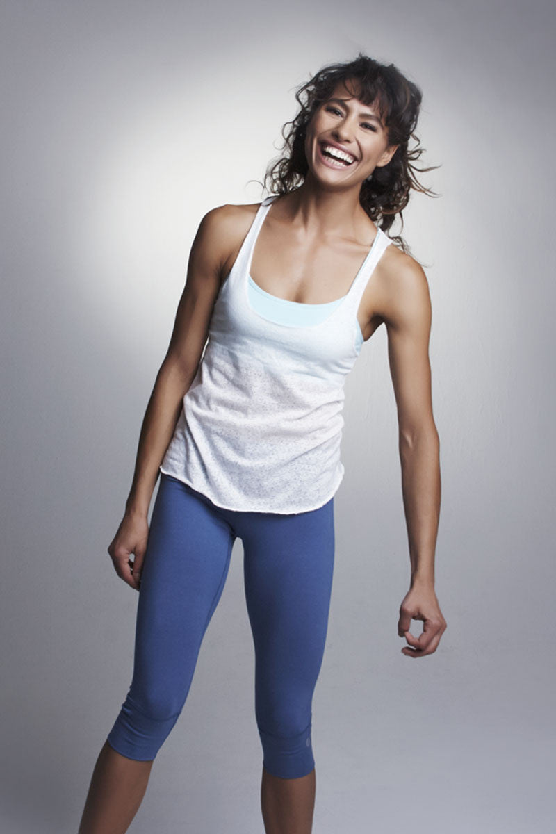 Mountain Pose Burnout Yoga Tank