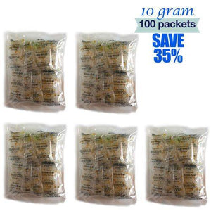 10 Gram Silica Gel (Total 100 packets) - Desiccants in Malaysia & Singapore | SilicaGelly