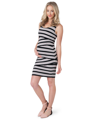 CRISS-CROSS STRIPED DRESS - RENTAL
