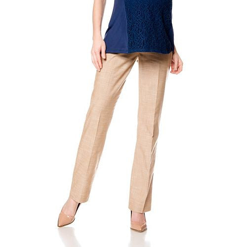 CROSSHATCH TROUSER MATERNITY PANTS