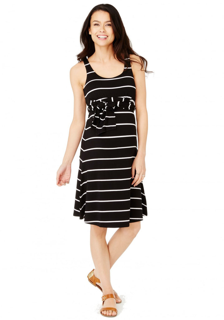 BEST DRESS - BLACK-WHITE STRIPE