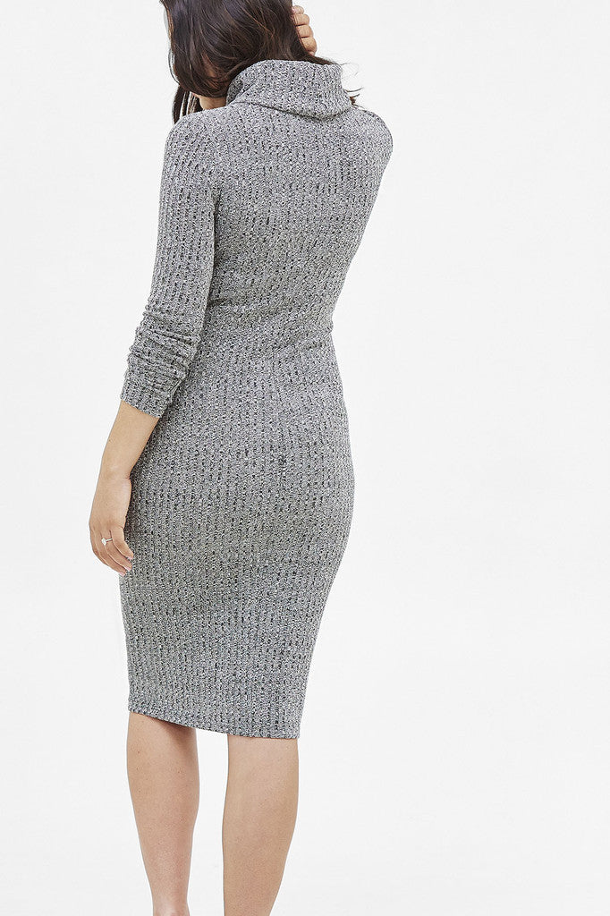 MIAOU RIB DRESS - GREY