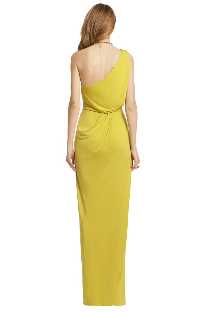 BCBGMAXAZRIA LEMON WITH LIME GOWN - RENTAL