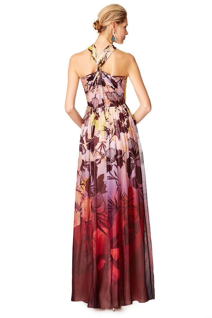MATTHEW WILLIAMSON TROPICAL SUNRISE GOWN - RENTAL