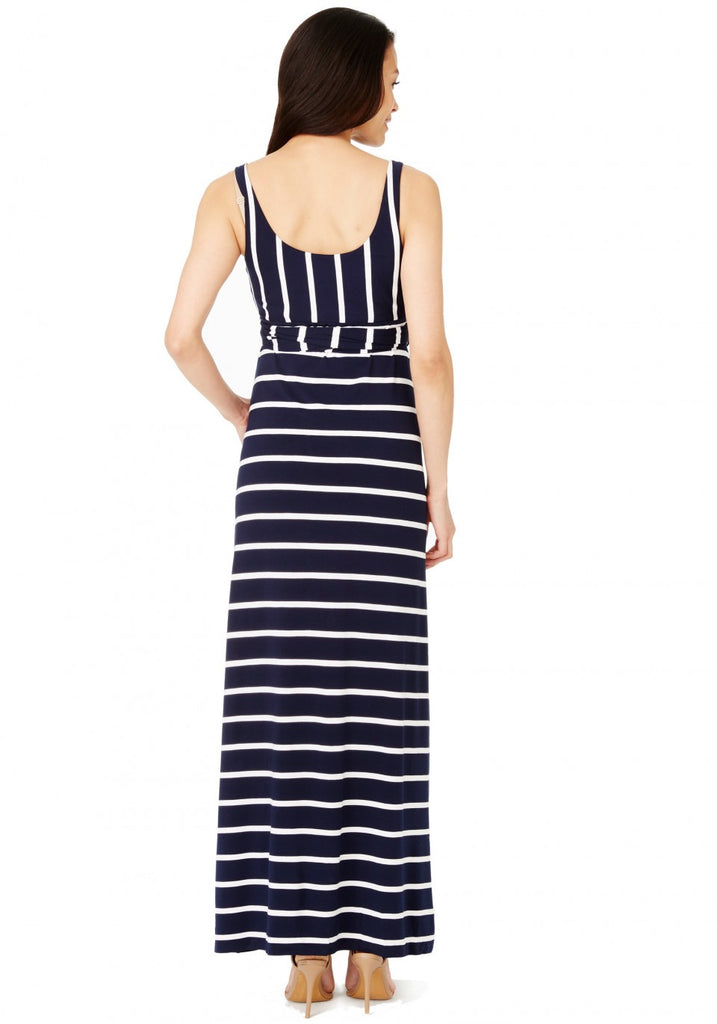 KENDAL DRESS - NAVY-WHITE STRIPE