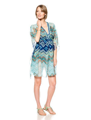 SERAPHINE CAFTAN MATERNITY SWIM COVER-UP