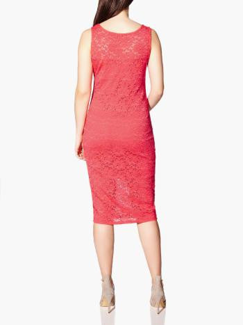 SLEEVELESS FITTED LACE MATERNITY DRESS
