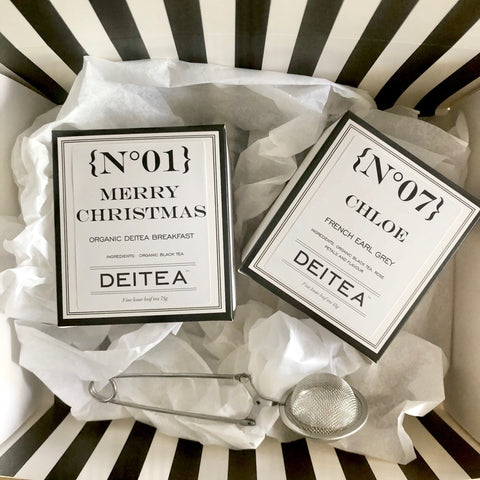 Personalised Christmas Duo - Black Tea Gift Set