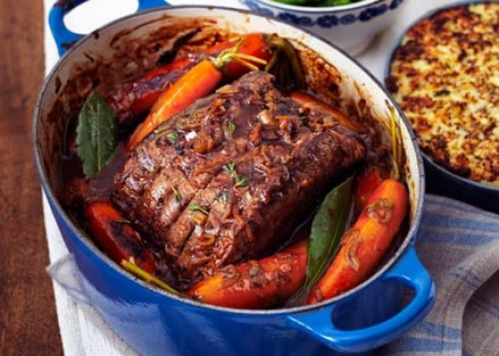 Slow Roast Beef Brisket with Roasted Vegetables