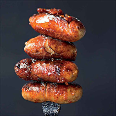 Glazed Honey & Mustard Sausages