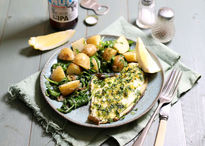 Plaice with Lemon and Parsley Butter