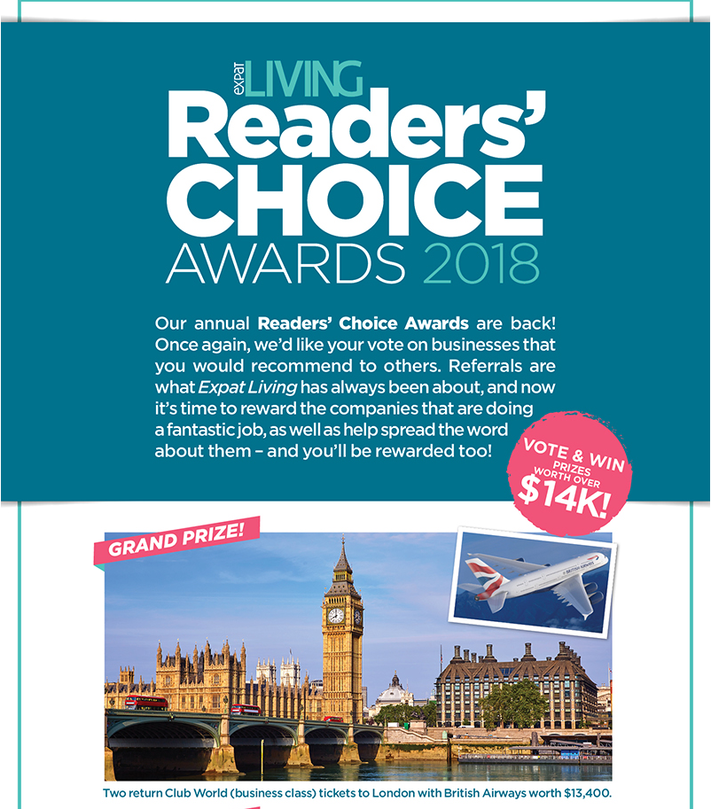 Sasha's Fine Foods Needs Your Vote - Expat Living Readers Choice Awards 2017