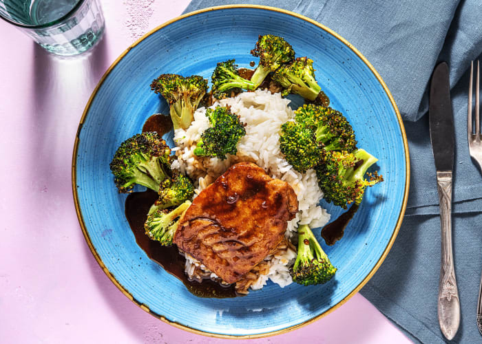Teriyaki Hake with Crispy Broccoli