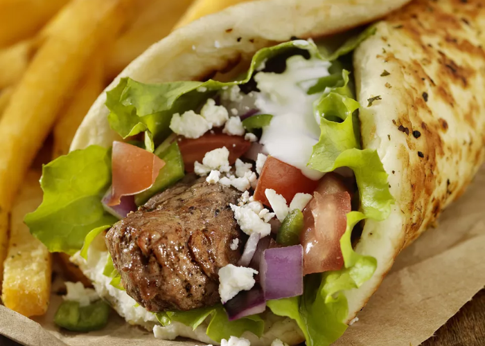 Greek Style Lamb Kebabs with Pita