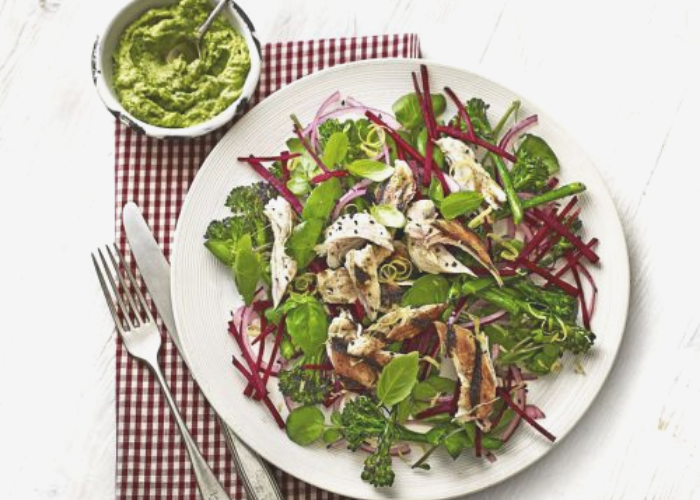 Chicken, Broccolini and Beetroot Salad