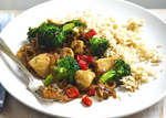 Stir-Fry Chicken with Broccoli and Brown Rice