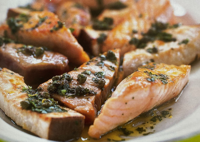 Salmon with Three-Herb Salsa