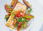 Trout with Crispy Potatoes and Minted Tomatoes