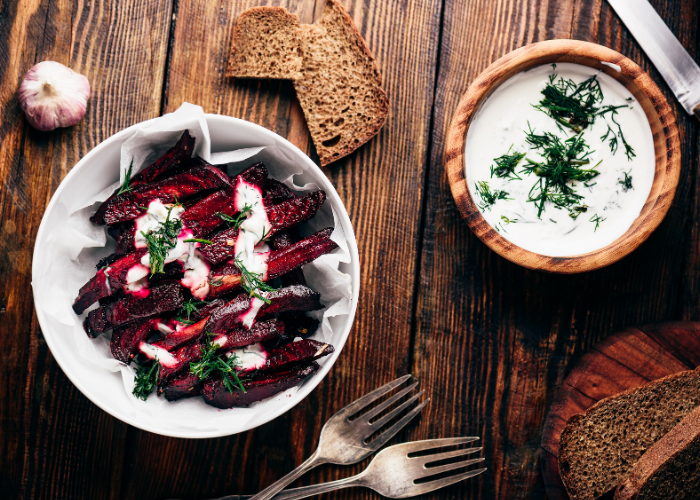 Creamy Baked Beetroot