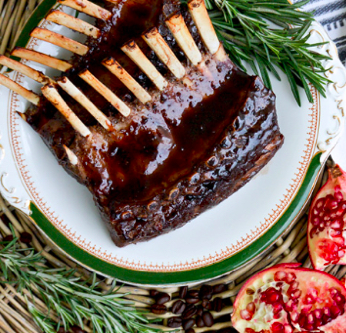 Lamb Rack with Pomegranate Coffee