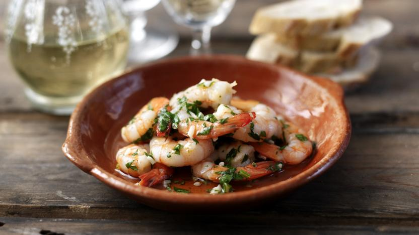 Prawns with Garlic Butter