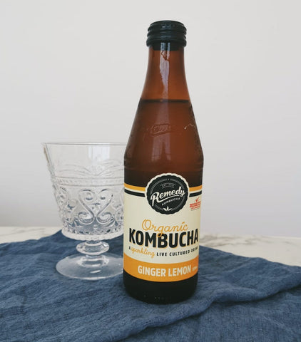 Organic Remedy Kombucha Ginger Lemon