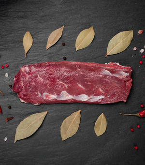 Load image into Gallery viewer, Fresh Woodburn NZ Grass-Fed Beef Tenderloin Fillet with dried leave and chili around