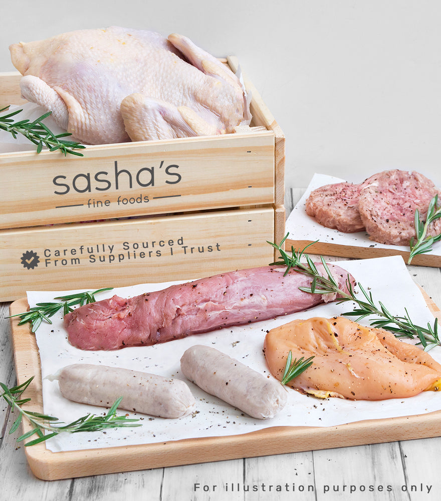 Sasha's best-selling Free range chicken, grass fed beef, hormones and antibiotics free pork and lamb products