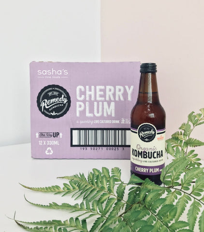 Organic Remedy Kombucha Cherry Plum Box