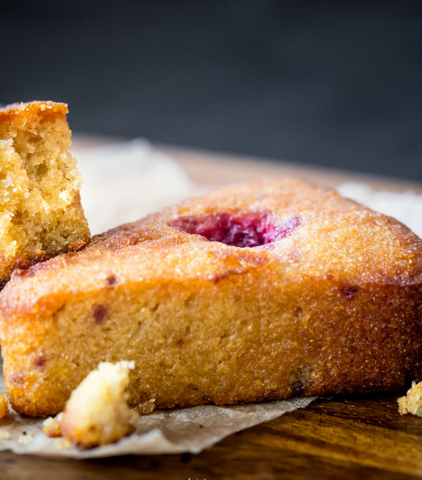 Lemon-Raspberry Cake (Slice)