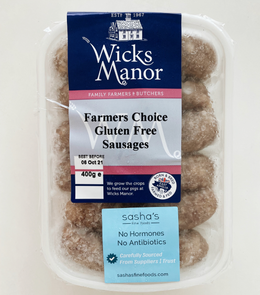 Wicks Manor Gluten-Free Sausages