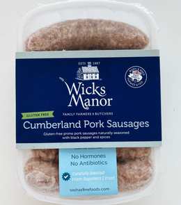 Wicks Manor English Cumberland Sausages (Gluten Free)