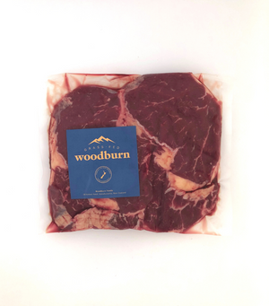 Load image into Gallery viewer, A pack of Woodburn New Zealand Grass-Fed Beef Ribeye Steaks - 2x200g steaks