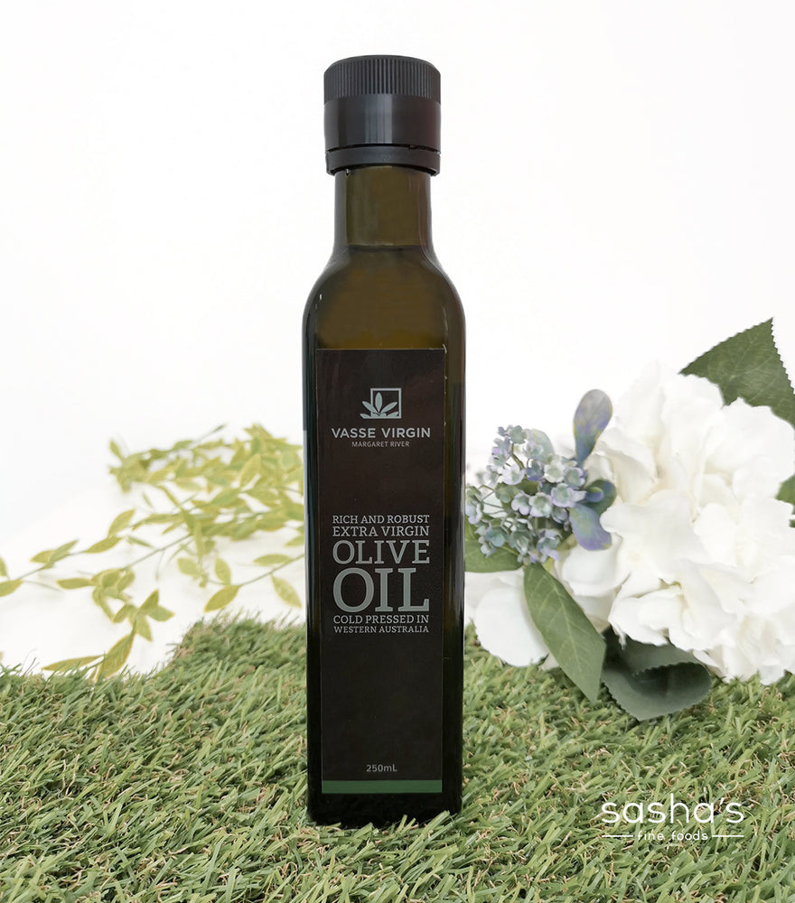 Load image into Gallery viewer, A bottle of 100% Vasse Virgin Rich & Robust Cold Pressed Extra Virgin Olive Oil