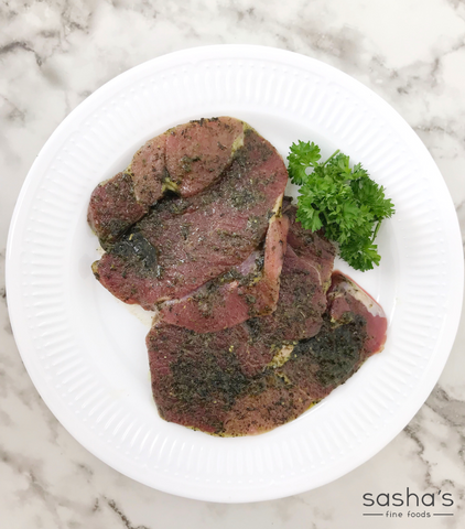 Welsh Lamb Boneless Leg Steaks -  Mint Flavoured