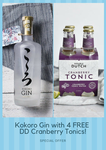 Kokoro Gin with 4 FREE DD Cranberry Tonics!