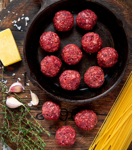 New Zealand Grass-fed Beef & Beetroot Meatballs