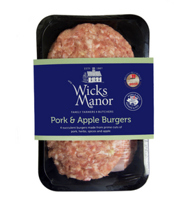 Wicks Manor English Pork & Apple Burgers