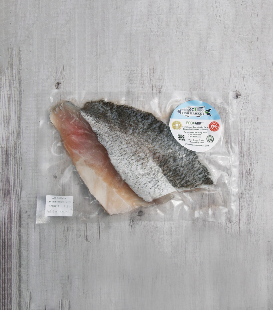 Load image into Gallery viewer, Pack of 2 pcs fresh seabass fillets - 180g per fillet