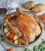 Perfectly roasted Fox River Australian Free-range whole chicken from Sasha's Fine Foods