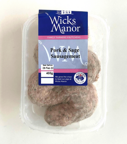 Wicks Manor Pork & Sage Sausage Meat with spices