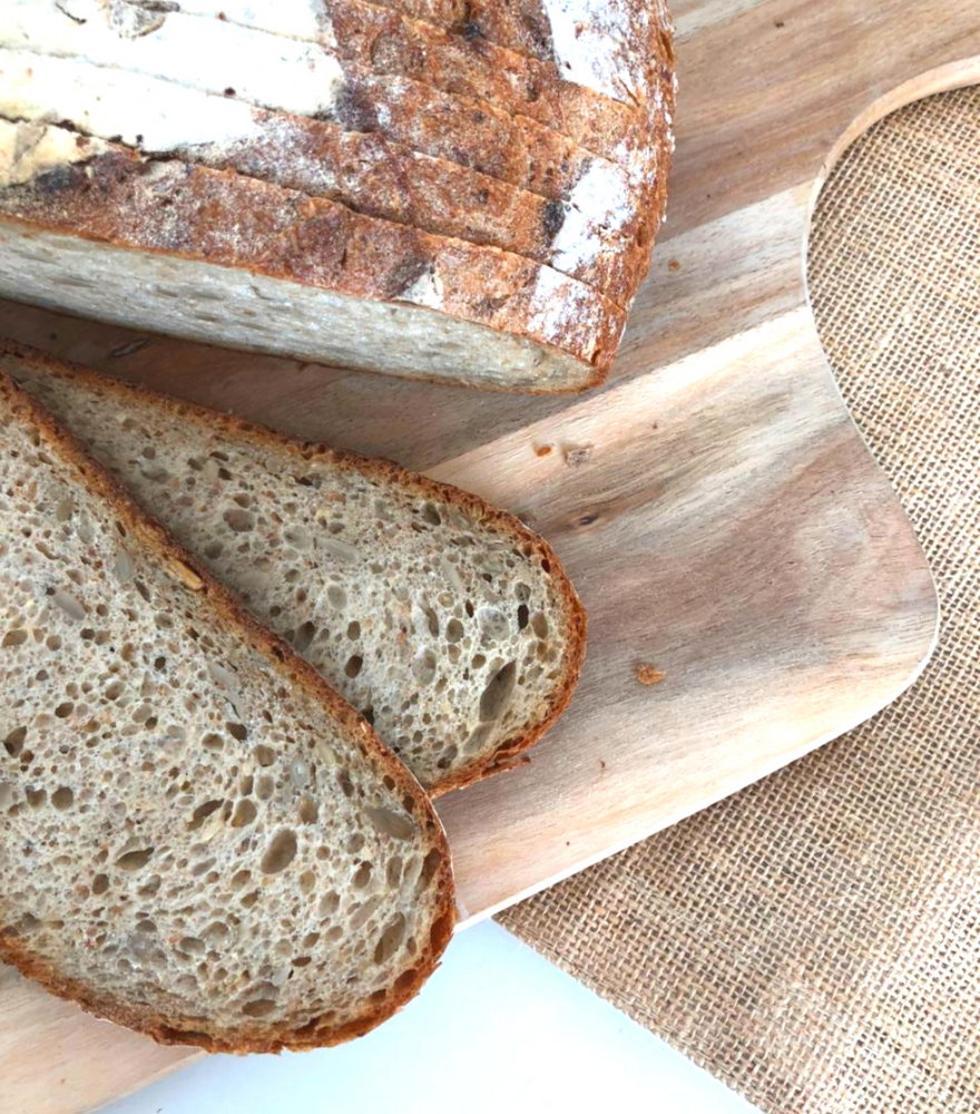 Rustic Wholemeal Bread with Sunflower Seeds