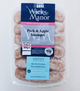 Wicks Manor English Pork & Apple Sausages