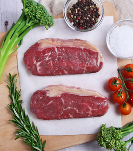 Delicious and juicy grilled Woodburn New Zealand Grass-Fed Beef Striploin Steaks